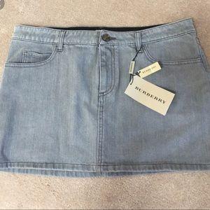 Burberry London Grey Denim Mini Skirt